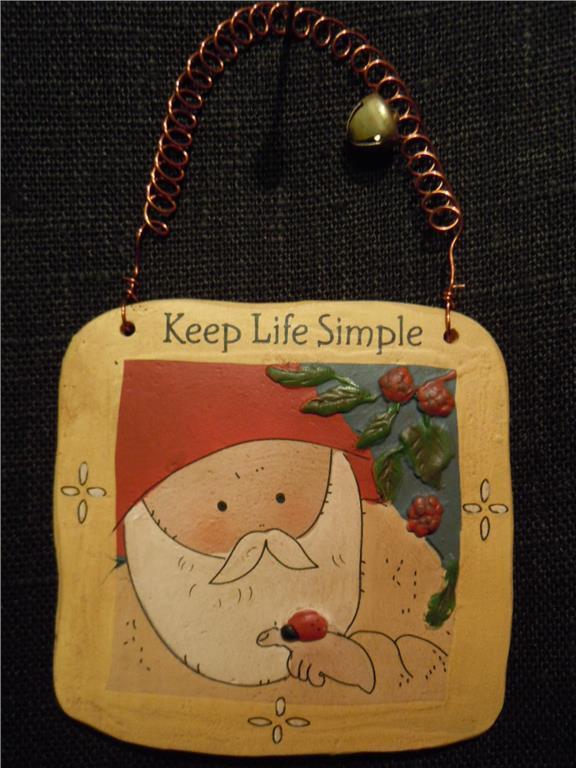 gnomy diaries by annekabouke Gnomys diaries  Budskapstavla   Keep Life Simple (WL0448)